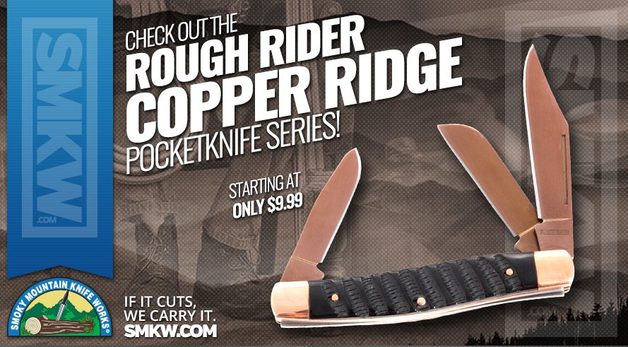 New! Rough Rider Copper Ridge Pocketknives