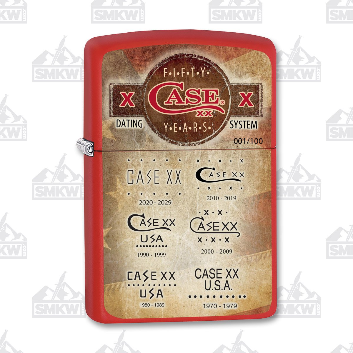 Case Fifty Year Tang Stamp Zippo Lighter
