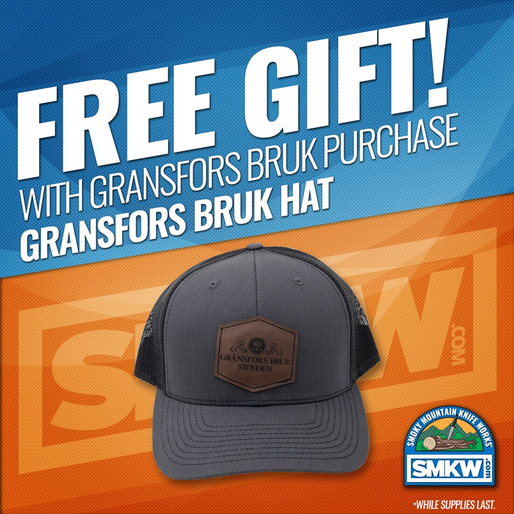 Free Gransfors Bruk Hat with any Gransfors Bruk Purchase! Web Only. 1 for 1. While Supplies Last.